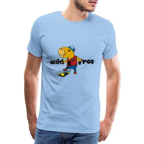 Skater Capybara - Männer Premium T-Shirt