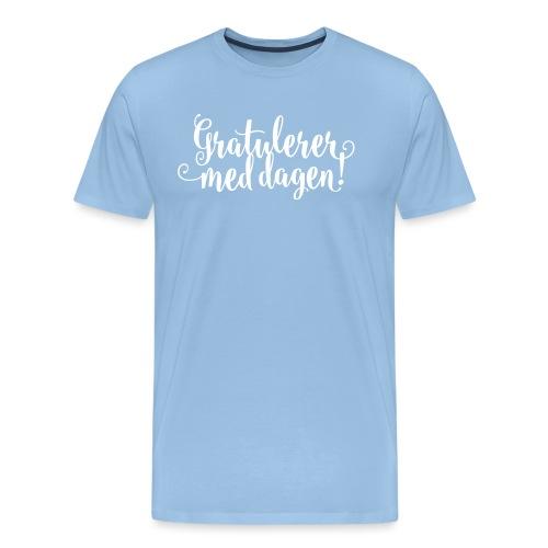 Gratulerer med dagen! - plagget.no - Premium T-skjorte for menn