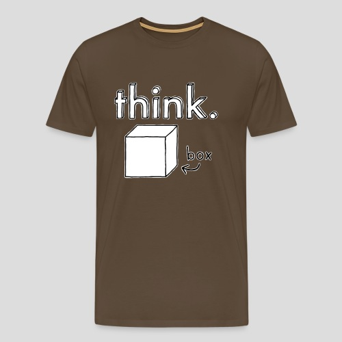 Think Outside The Box Illustration - Men's Premium T-Shirt