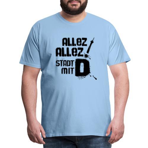 Allez Allez Stadt mit D 3 black - Männer Premium T-Shirt