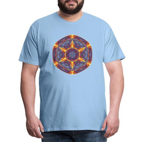 Star Poinsettia Mandala Lucky Star 9401I - Men's Premium T-Shirt
