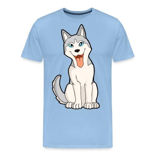 Husky grigio occhi azzurri - Maglietta Premium da uomo