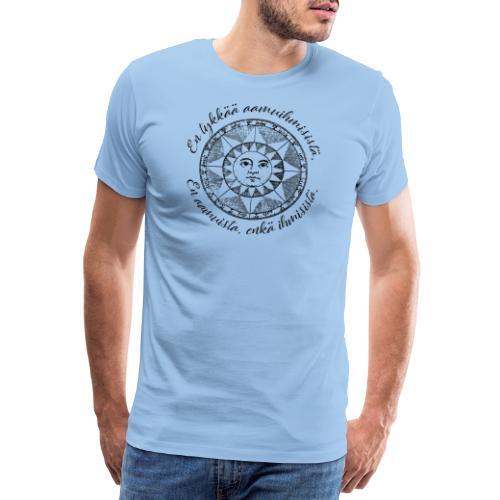 En tykkää aamuihmisistä en aamuista enkä ihmisistä - Miesten premium t-paita