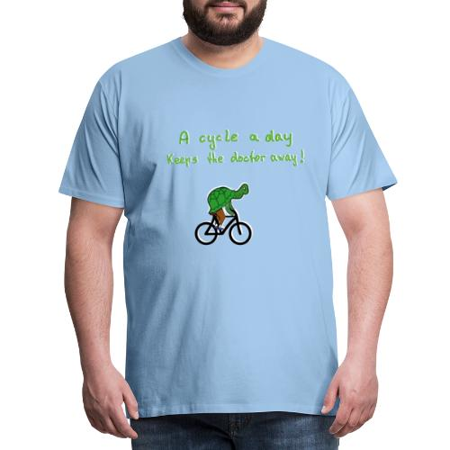 A cycle a day keeps the doctor away - Männer Premium T-Shirt