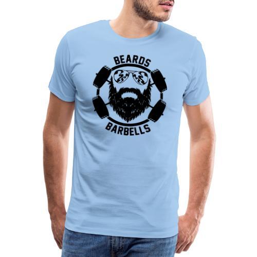 beards and barbells - Mannen Premium T-shirt