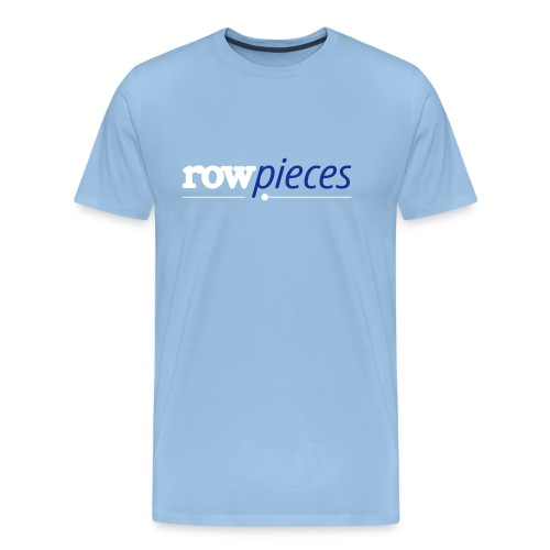 Rowpieces logo bicolored blue - Men's Premium T-Shirt