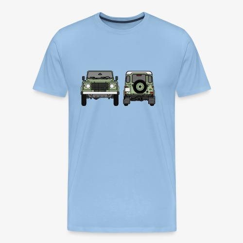 Defender - Front and Rear - Premium-T-shirt herr