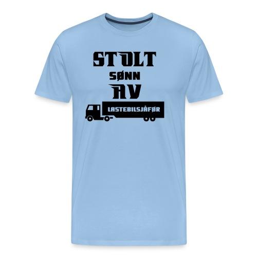 Stolt sønn av lastebilsjåfør - Men's Premium T-Shirt