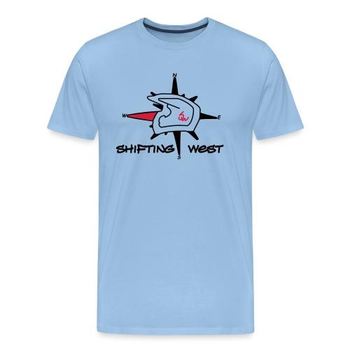 Shifting West Logo vector - Mannen Premium T-shirt