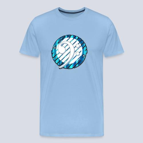 BassClef blue/white - Men's Premium T-Shirt