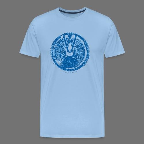 Maschinentelegraph (blå oldstyle) - Herre premium T-shirt
