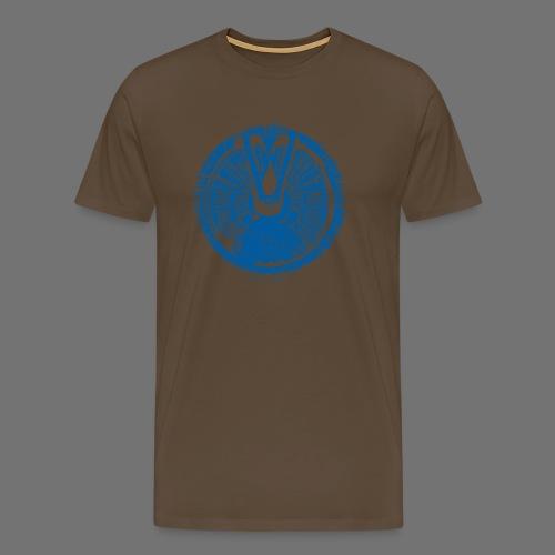 Maschinentelegraph (sininen oldstyle) - Miesten premium t-paita
