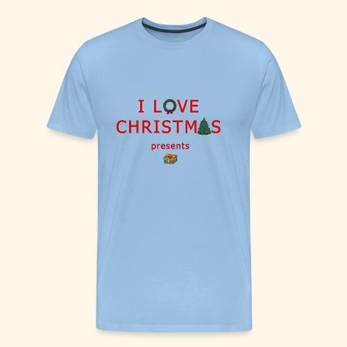 I love christmas presents - Men's Premium T-Shirt