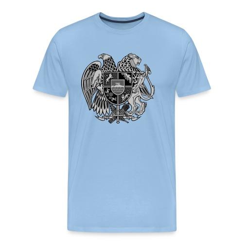 Szary herb Ormiański duży - Koszulka męska Premium