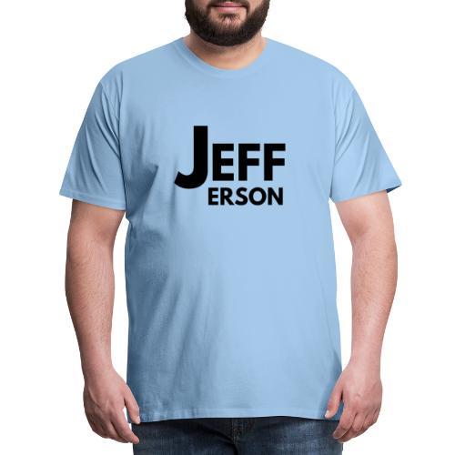 Jefferson officiële logo (zwart) - Mannen Premium T-shirt