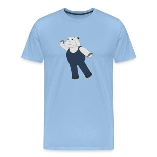 Hippo Ballet Dancer - Herre premium T-shirt