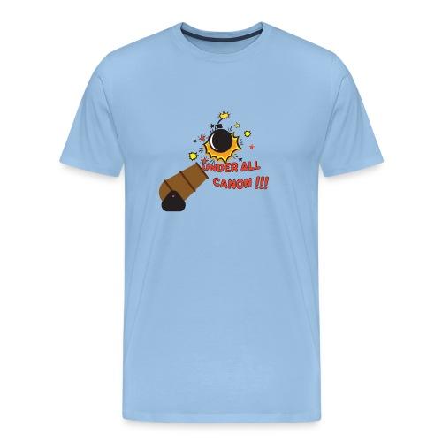 Denglisch-Shirt: under all canon, lustiges Shirt - Männer Premium T-Shirt