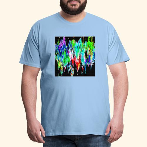 Colori ondulati base nero - Maglietta Premium da uomo