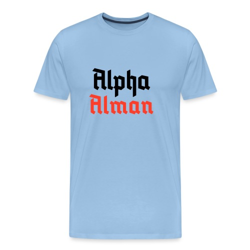 Alpha Alman - Männer Premium T-Shirt