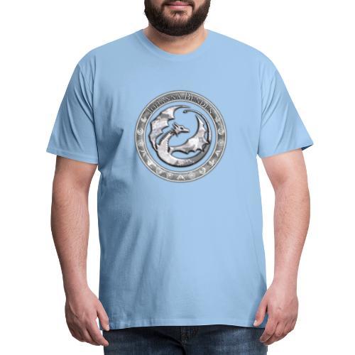 Drachenlogo Silberweiß - Männer Premium T-Shirt