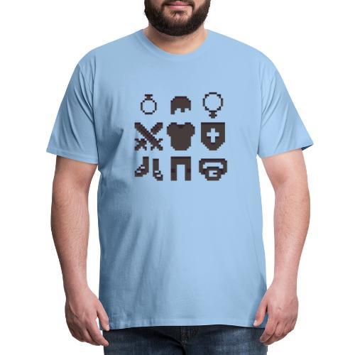 RPG Inventory Slots - Herre premium T-shirt