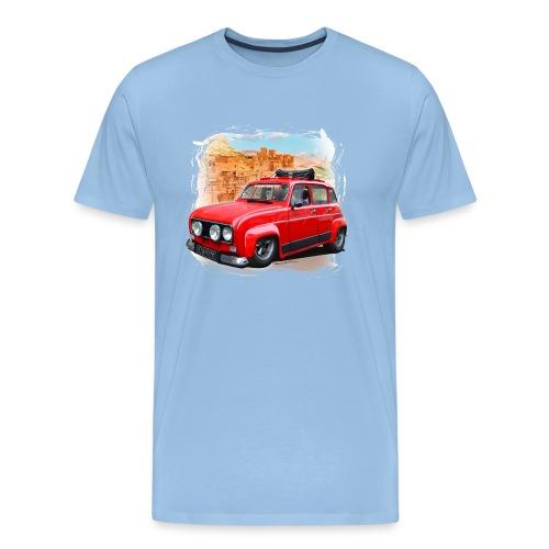 R4 4L prête au départ pour le Raid dans le désert - T-shirt Premium Homme