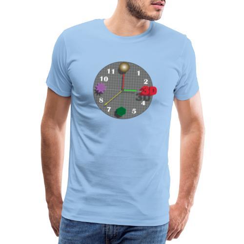 3D o'clock - with models, Vector design - Men's Premium T-Shirt