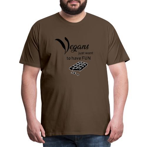 Vegans just want to have fun - tinte chiare - Maglietta Premium da uomo