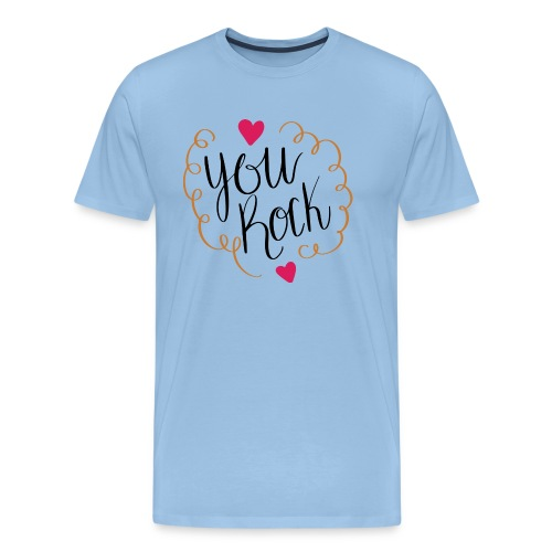 you rock - Camiseta premium hombre