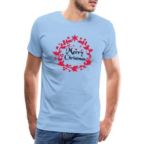 Merry Christmas lease decoration - Men's Premium T-Shirt