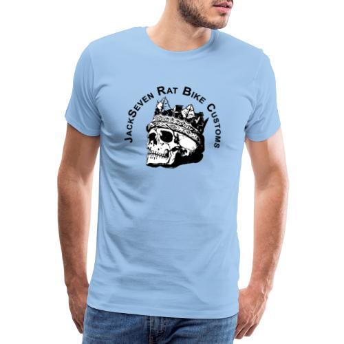 JackSeven Customs - Skull -Totenkopf - Bobber - Männer Premium T-Shirt