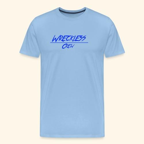 Wreckless crew logo blå - Premium T-skjorte for menn