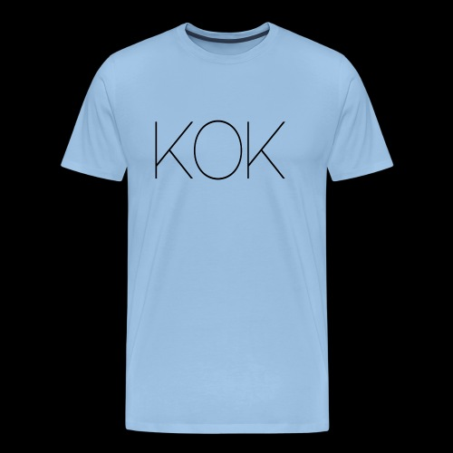 Moderne Loft Stil Schrift KOK - Männer Premium T-Shirt