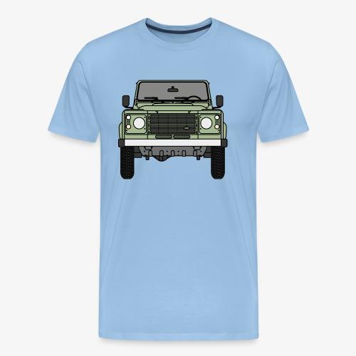 Defender - Front - Premium-T-shirt herr