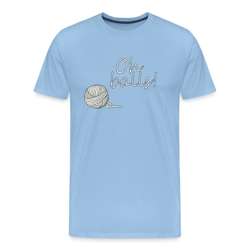 Oh Balls! More Yarn! - Men's Premium T-Shirt