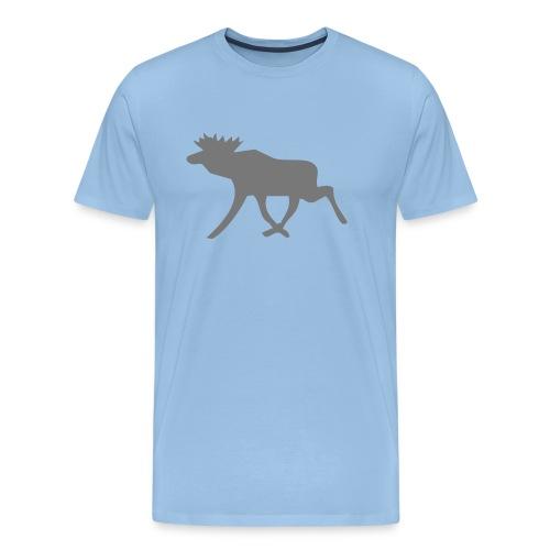 Schwedenelch; schwedisches Elch-Symbol (vektor) - Männer Premium T-Shirt