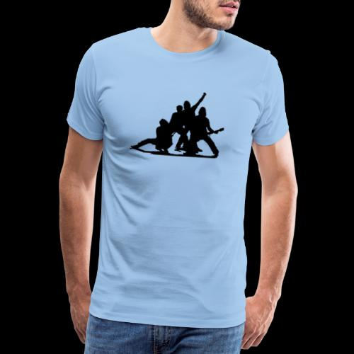 Glimmer siluett - Premium T-skjorte for menn