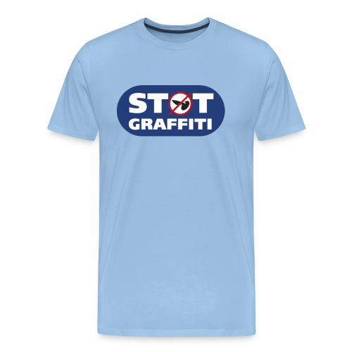 støt graffiti - blk logo - Herre premium T-shirt
