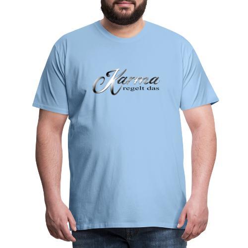 Karma regelt das silber - Männer Premium T-Shirt
