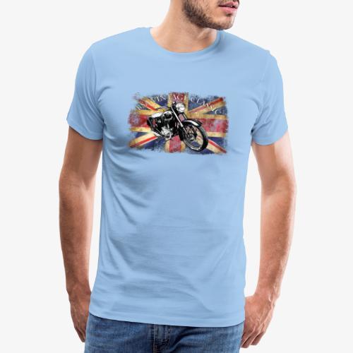 Vintage famous Brittish BSA motorcycle icon - Men's Premium T-Shirt