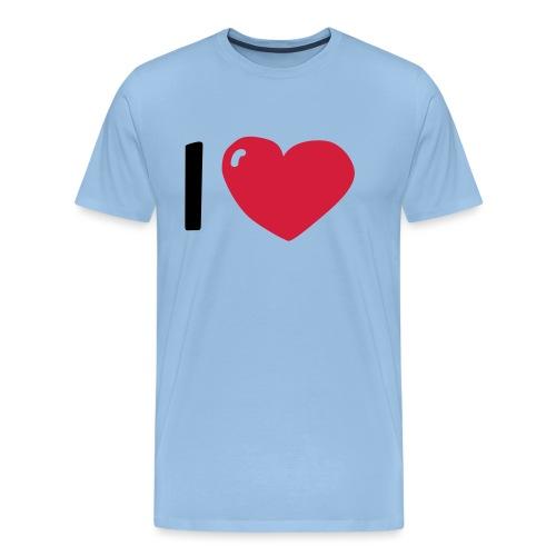 I love / I heart / I herz (Waldorf Style) - Männer Premium T-Shirt