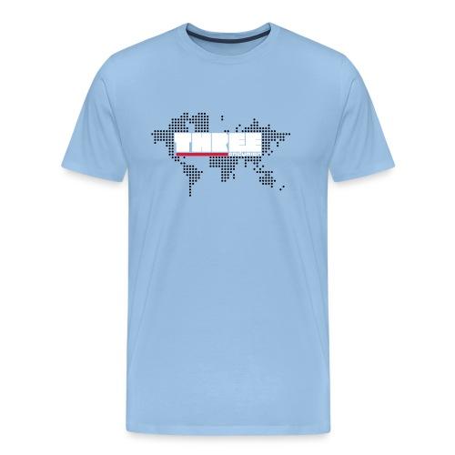 World Tour THREE Front 3 Colors - Men's Premium T-Shirt