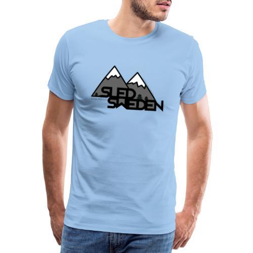 SledSweden Logo - Premium-T-shirt herr