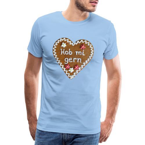 Lebkuchenherz - Männer Premium T-Shirt