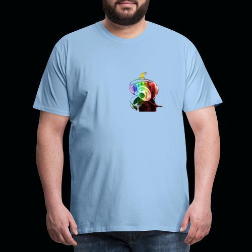 Music background wallpaper36 - T-shirt Premium Homme
