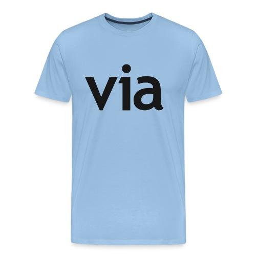via black png - Mannen Premium T-shirt