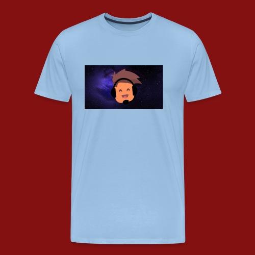 ProfilBild RymdBakgrund - Premium-T-shirt herr