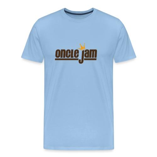 Oncle Jam horizontal brun - T-shirt Premium Homme