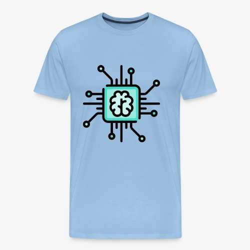 Brain chip - Men's Premium T-Shirt