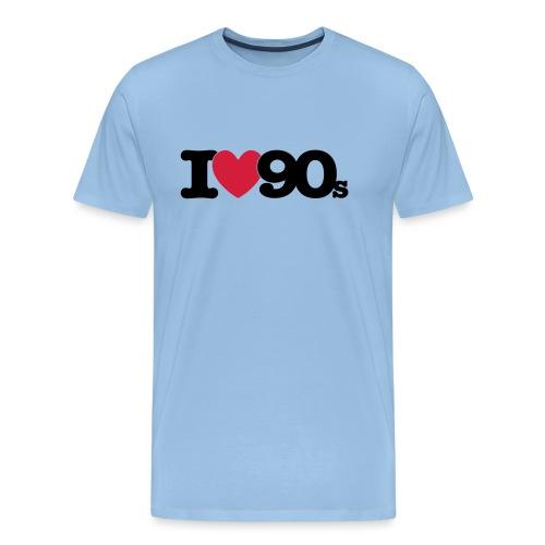 I love 90s - Männer Premium T-Shirt